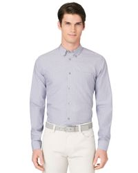 Calvin Klein | Purple Modern Fit Medium Grid Check Sportshirt for Men | Lyst
