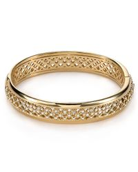 Nadri - Metallic Lattice Bangle - Lyst
