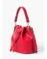 Violeta by Mango | Red Pebbled Bucket Bag | Lyst