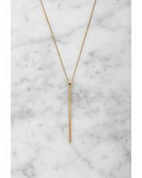 Forever 21 - Metallic By Boe Linear Drop Necklace - Lyst