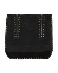 Isabel Marant | Gray Iolana Studded Suede Mini Skirt | Lyst