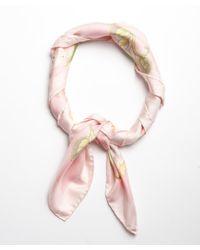 Ferragamo | Light Pink Tropical Floral Print Silk Scarf | Lyst