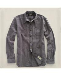 RRL | Gray Jasp Railman Workshirt for Men | Lyst