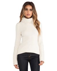 Alice By Temperley White Honeycomb Turtleneck Tunic