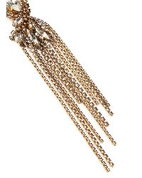 Erickson Beamon | Metallic 'young And Innocent' Crystal Fringe Earrings | Lyst