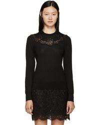 Dolce & Gabbana Black Lace Knit Sweater