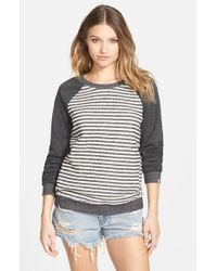 Volcom | Black 'lived In' Stripe Raglan Pullover | Lyst