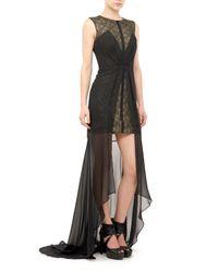 Nicole Miller Black Saketini Lace Gown