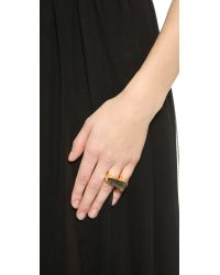Maiyet | Metallic Slanted Concave Ring With Inlay - Rutile Quartz | Lyst