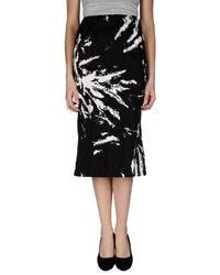 Miu Miu Black Printed Duchesse Cottonblend Skirt
