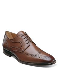 Florsheim | Brown Sabato Leather Wingtip Oxfords for Men | Lyst