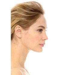 kate spade new york White Cueva Rosa Stud Earrings - Cream