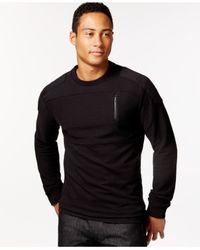 Sean John | Black Textured And Pieced Moto Shirt for Men | Lyst