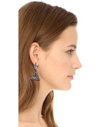 Lulu Frost - Multicolor Winged Glory Earrings Silverclear - Lyst