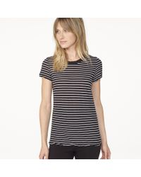 James Perse - Black Classic Striped Tee - Lyst
