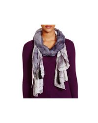 Echo - Black Changing Leaves Scarf - Lyst