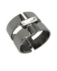 Diane von Furstenberg | Metallic Swarovski Stone Hinge Cuff Bracelet | Lyst