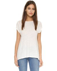 Free People | White Prairie Tee - Shell | Lyst
