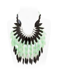 Silvia Rossi - Green Peacock Feathers Necklace - Lyst