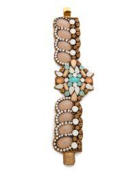 Deepa Gurnani - Multicolor Crystal Cuff Bracelet - Lyst