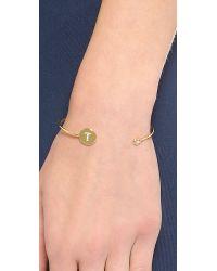 Tai - Metallic Letter Open Cuff Bracelet - Lyst