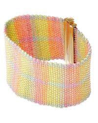 Carolina Bucci | Metallic Gold And Silk Melange Woven Bracelet | Lyst