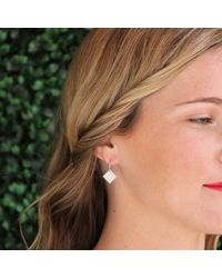 Irene Neuwirth | Metallic Small Diamond Shaped Earrings | Lyst