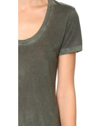 Cotton Citizen - Green The Mykonos Scoop Tee - Military - Lyst