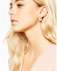 ALDO - White Volpino Through & Through Earrings - Lyst