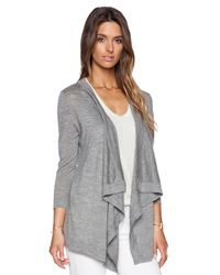 Autumn Cashmere | Gray Waterfall Cardigan | Lyst