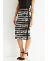 Oasis Black Geometric Zanzibar Skirt