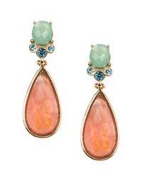 Anne Klein | Multicolor Coral-drop Earrings | Lyst