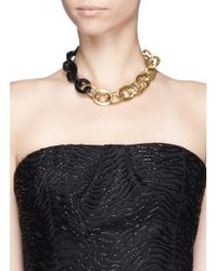 Maiyet | Black Horn And Gold Oval Link Necklace | Lyst