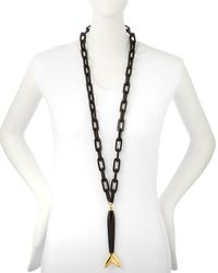 Maiyet | Black Large Fish Link Necklace | Lyst