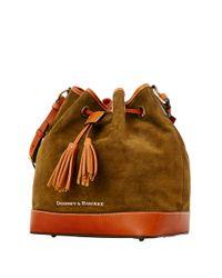 Dooney & Bourke | Green Suede Drawstring Bucket Bag | Lyst