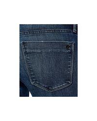 Black Orchid Blue Mia Dark Wash Flare Jeans In Incognito