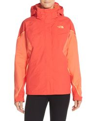 The North Face - Orange 'boundary' Tri-climate Jacket - Lyst