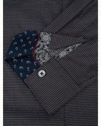 Ted Baker   Black Bigidea Micro Dobby Shirt for Men   Lyst