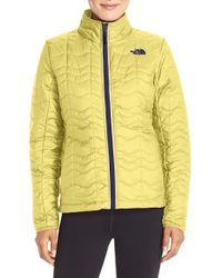 The North Face | Yellow 'bombay' Quilted Jacket | Lyst