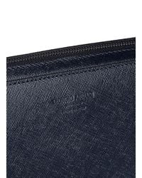 Giorgio Armani - Blue Saffiano Leather Document Case for Men - Lyst