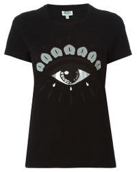 KENZO - Black 'eye' T-shirt - Lyst