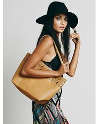 Free People | Brown Womens Blakley Vegan Tote | Lyst