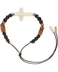 Saint Laurent | Black Patti Croix Bracelet for Men | Lyst