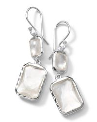 Ippolita | Metallic Sterling Silver Wonderland Rectangular Mini-drop Earrings In Mother-of-pearl Doublet | Lyst