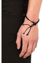 Alexander McQueen - Black Swarovski-Embellished Skull Bracelet for Men - Lyst