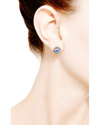 Dana Rebecca | Purple Emma Harper Round Earrings | Lyst