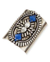 DANNIJO | Metallic Oakli Crystal Cuff Bracelet | Lyst