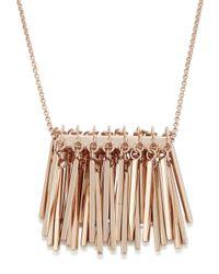 Eddie Borgo - Pink Rose Gold Plated Fringe Necklace - Lyst