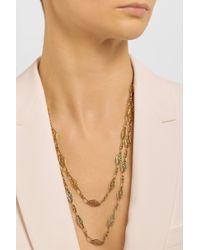 Fred Leighton Metallic Victorian 18karat Gold Filigree Necklace