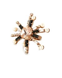 Vickisarge - Pink Cosmos Crystal-Star Gold-Plated Ring - Lyst